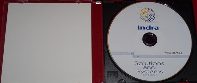 Porta cd caja slim bandeja caratula interior sin impresión.