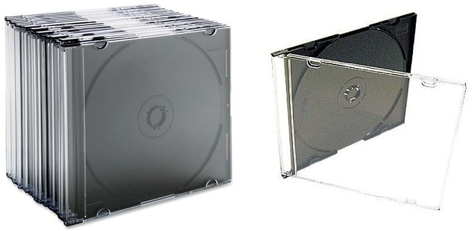Porta cd slim negra