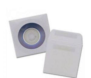 sobres de papel con ventana para mini cd
